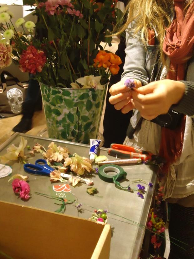 taller flores sayan