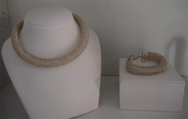crochet collar bracalete