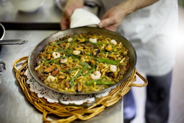 paella pasta fettucine