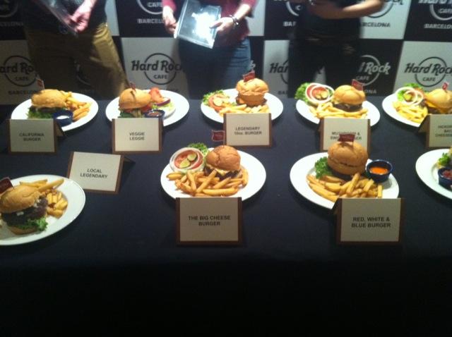hamburguesa hard rock cafe barcelona concurso