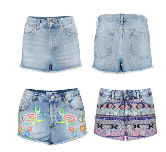 jeans shorts topshop