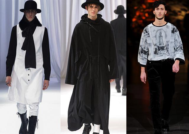 Ann Demeulemeester, a la dx Dolce&Gabbana f/w 2013
