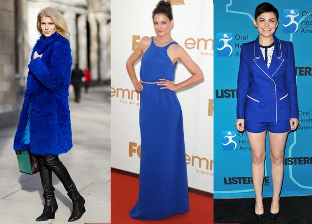 azul look moda