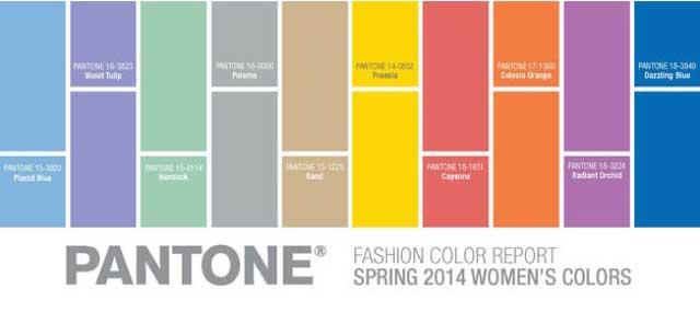 Los colores de moda para la primavera 2014 el color report de pantone bcn cool hunter - Gamas de colores azules ...
