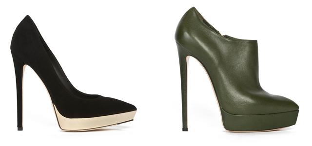 zapatos casadei negro
