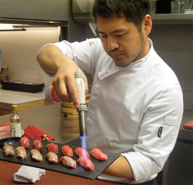 preparacion sushi ahumado