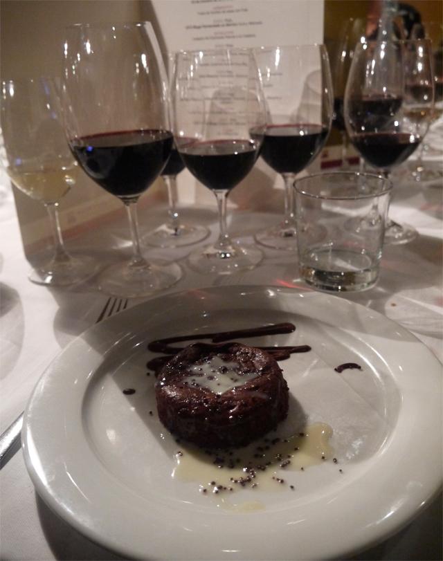 souffle tibio chocolate con D.O.C Rioja 2009