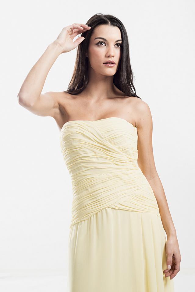 vestido de fiesta-palabra-honor-amarillo