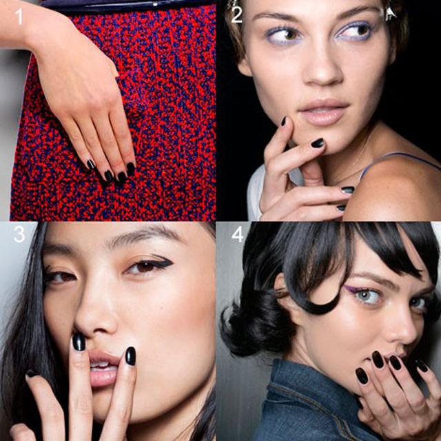 Tendencias de esmaltes de uñas megros primavera 2014