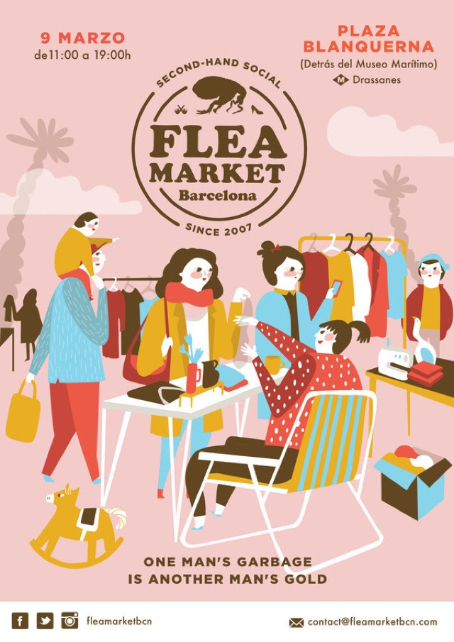 flea market mercado moda segunda mano barcelona