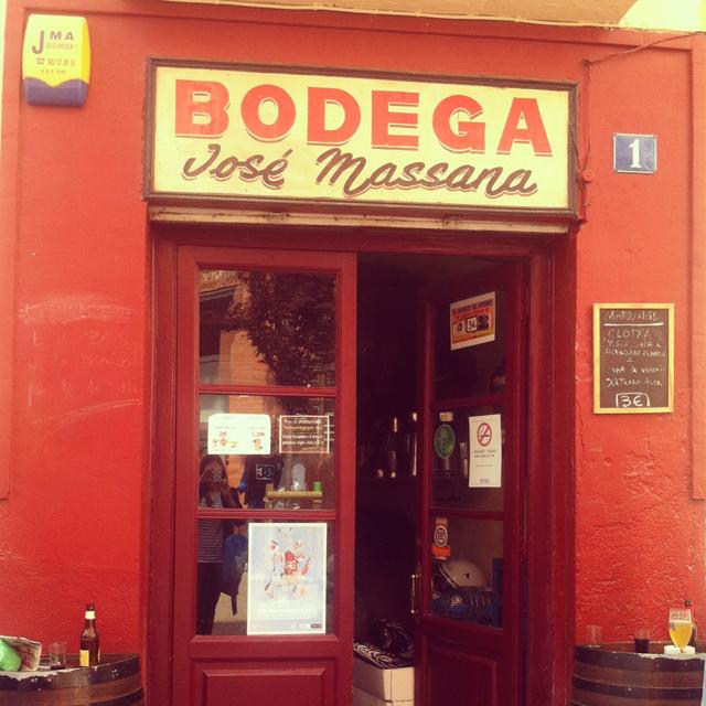 Ruta gastronómica por Horta bodega-massana-entrada