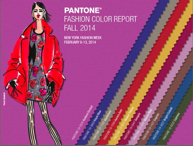 pantone colores moda otono invierno 2014