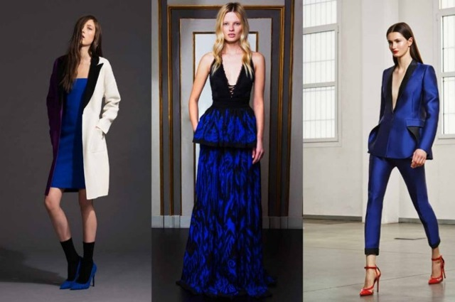 Royal Blue: Fausto Puglisi, Emilio Pucci and Antonio Berardi pre-fall - Vogue