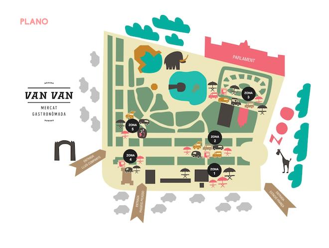 mapa van van streed market food