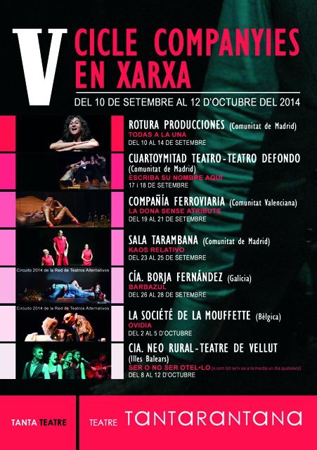 programación Teatro Tarantana 2014 2015
