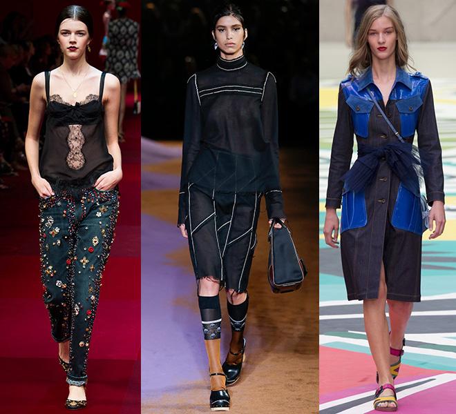 El DIY en Dolce&Gabbana - Prada - Burberry s/s 2015
