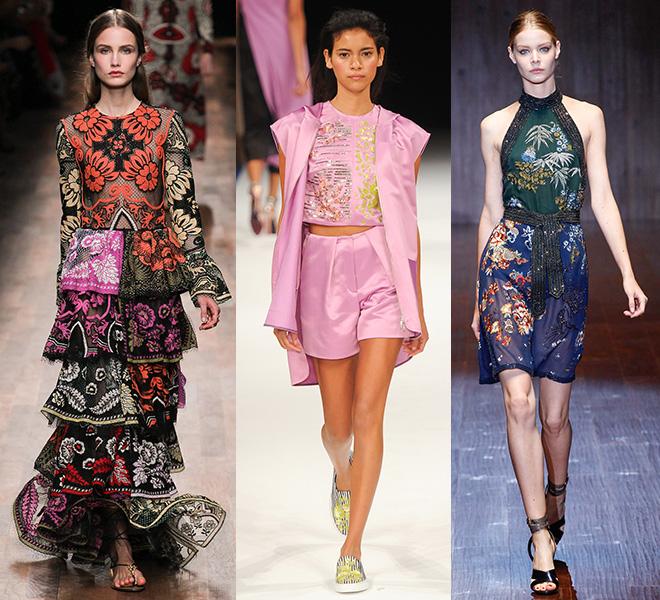 La inspiración oriental de Valentino - Talbot Runhof - Gucci s/s 2015