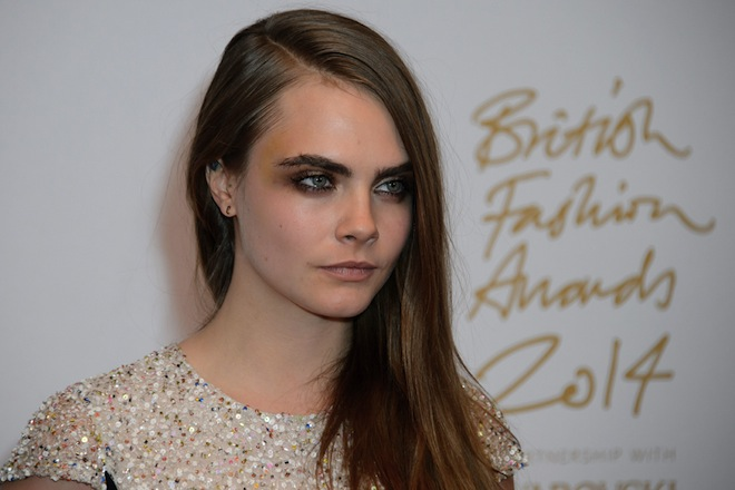 Cara delavigne bfa 2014 maquillaje