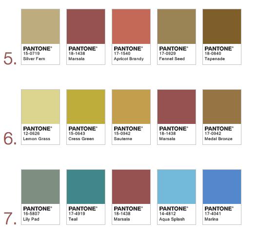 marsala combinaciones colores