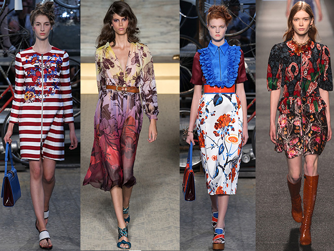 El Marsala en rayas y floral print: Antonio Marras, Williamson, Marras, Louis Vuitton s/s 2015