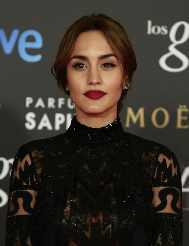 Megan Montaner maquillaje premios goya