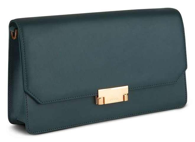 ecco bolso clutch verde