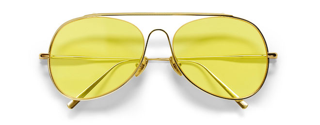 Acne Studios gafas amarillas aviador