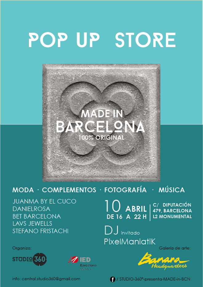 CARTEL POP UP market barcelona
