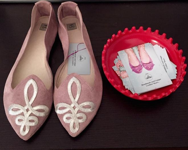 ele handmade flats rosa
