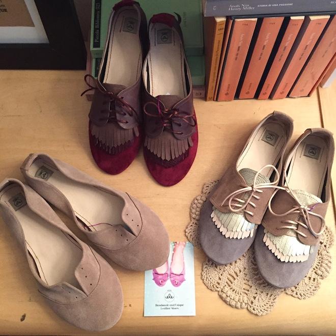 ele handmade flats shoes