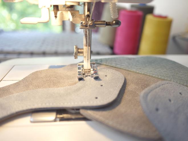 ele handmade maquina coser zapatos