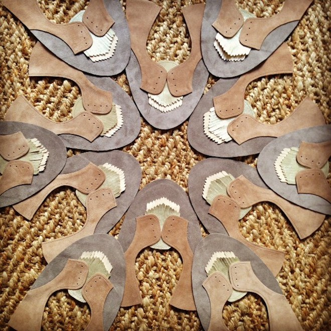 ele handmade prototipo zapato