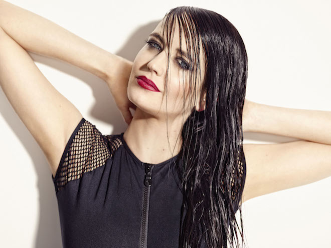 EVA GREEN wet look