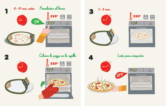 pizza casa tarradella preparacion horno
