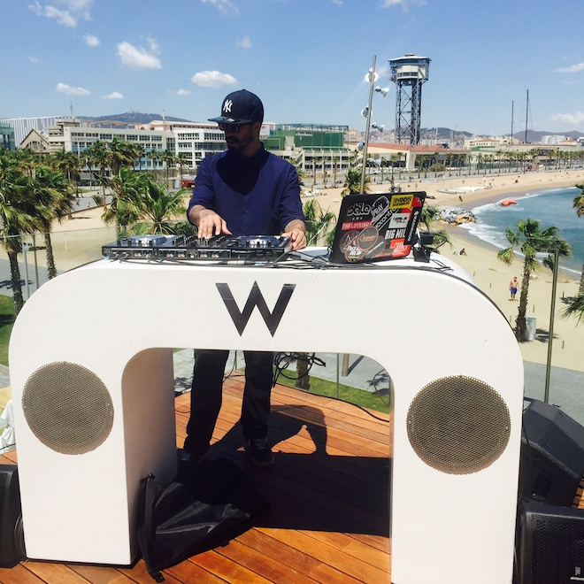 terraza wet deck dj set