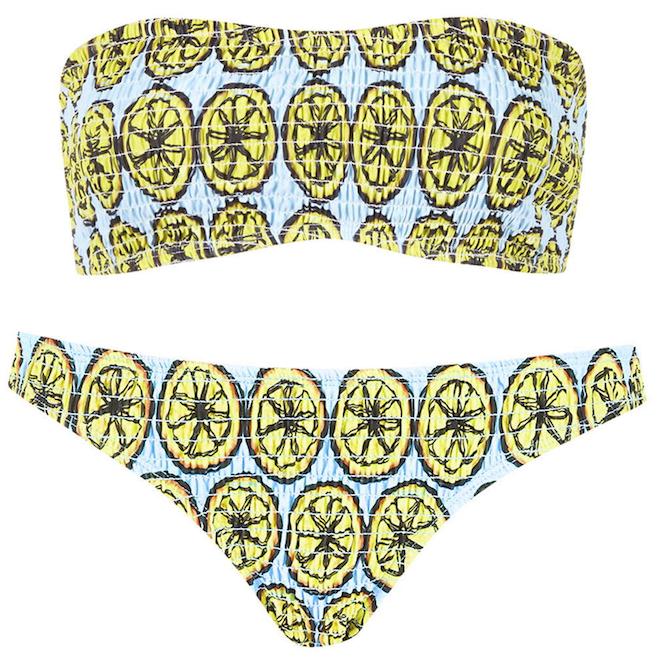 bikini estampado limones topshop