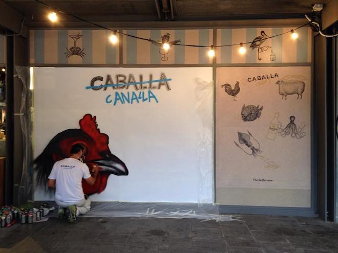 caballa canalla bcn graffiti