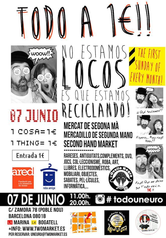 Mercadillos de segunda mano moda vintage y street food en - Mercadillo segunda mano barcelona ...