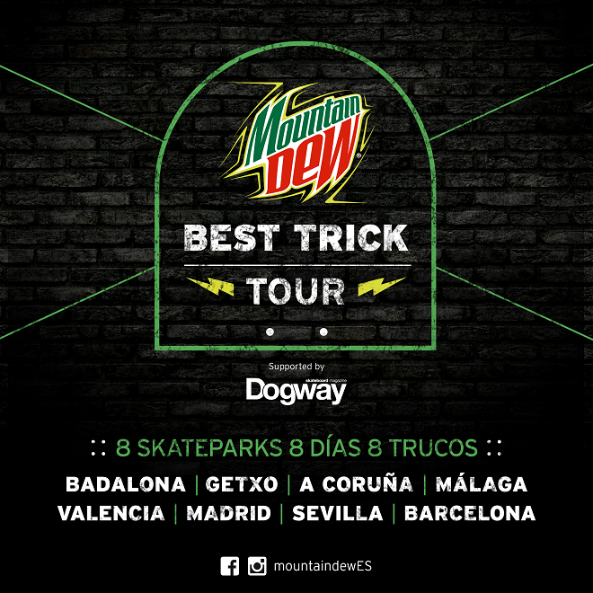 Mountain Dew Best Trick Tour Cartel genérico