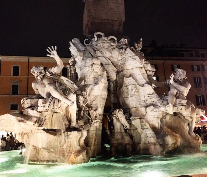 piazza navona fontana bernini