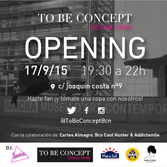flyer opening to be concept store barcelona