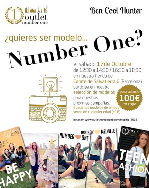casting modelos outlet number one