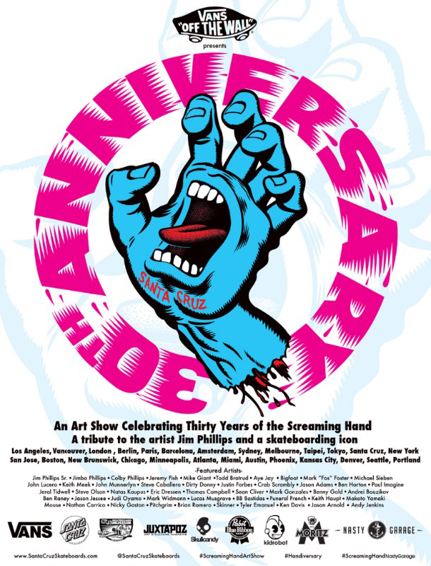Cartel Screaming hand ART SHOW en Barcelona