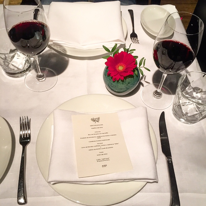 alma music dinner cena