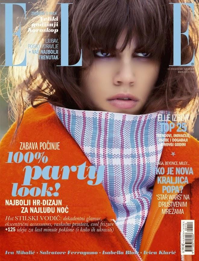 Antonina Petkovic 1 for Elle Croatia January 2014