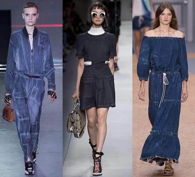 DENIM: Louis Vuitton, Fendu, Chloè SS16