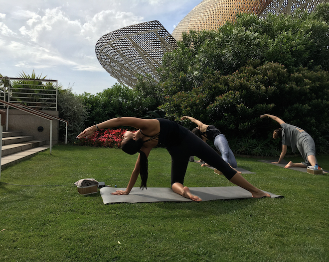 hotel arts yoga global wellness day