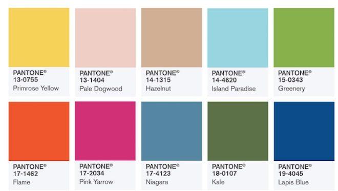 Los 10 colores de moda para la primavera verano 2017 del for Colores de moda para paredes 2016