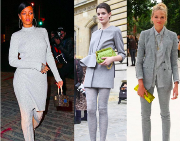 tendencias de moda color gris