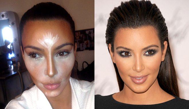 Kim Kardashian nose contour